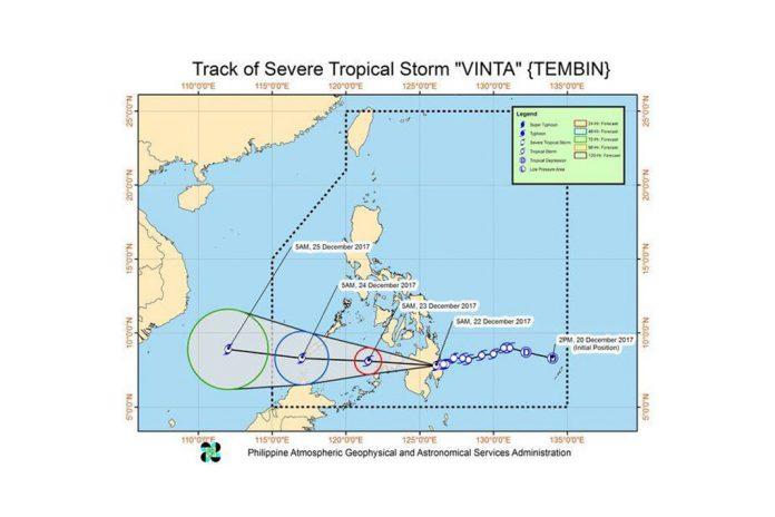 Tropical depression Vinta