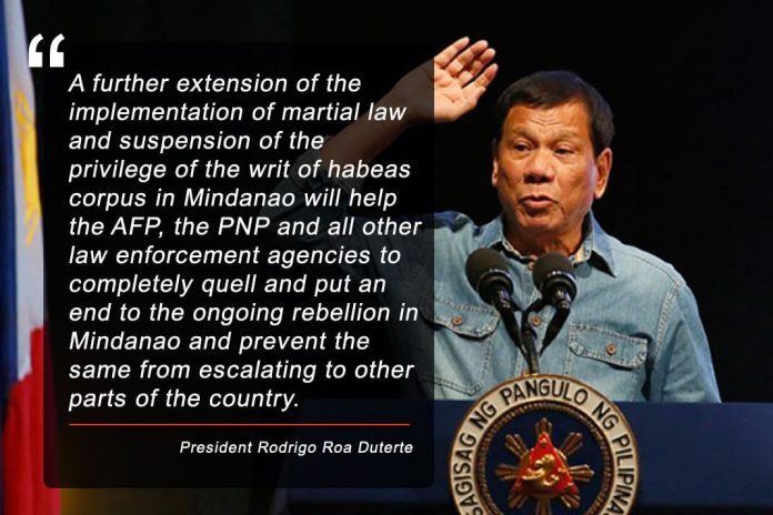 Martial Law extension in Mindanao