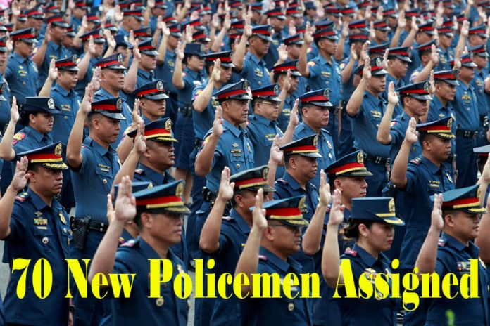 70 New Policemen Assigned